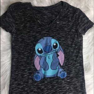 Disney LILO and Stich Black and Grey Women's Shirt